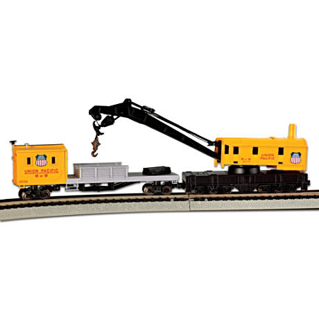 N-Scale Union Pacific Crane And Boom