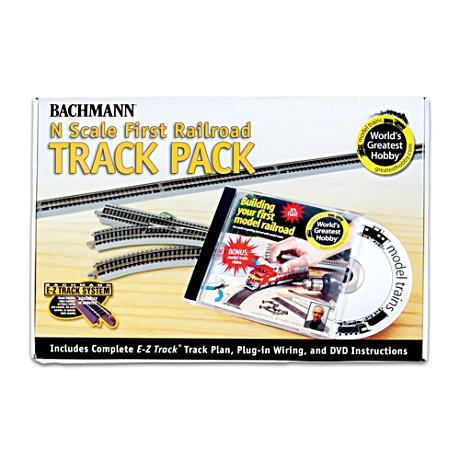 E-Z Track N-Scale 47-Piece Railroad Track Pack
