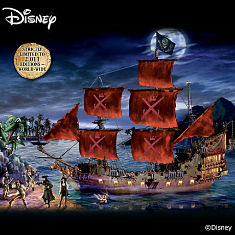 Pirates Of The Caribbean Ship With Lights, Sound, Characters