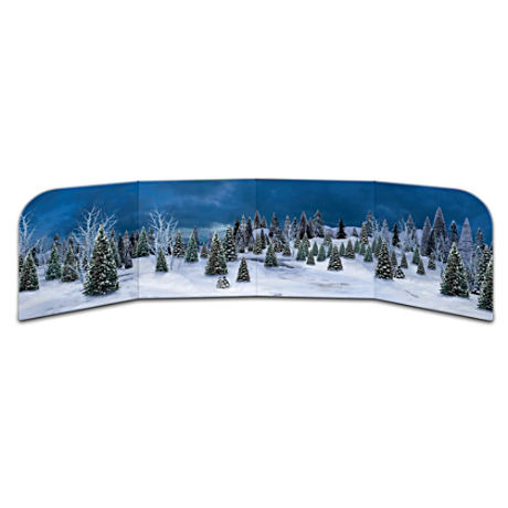 """Perfect Evening"" Winter Scene Freestanding Village Backdrop"