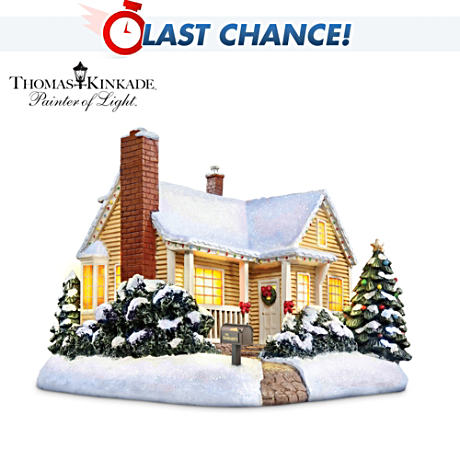 Hawthorne 20th Anniversary Thomas Kinkade Lighted Cottage