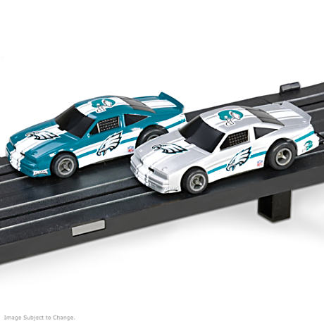 1/87 HO-Scale Philadelphia Eagles Electric Slot Car Set