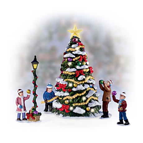 """Merry And Bright"" Illuminated Christmas Village Accessory"