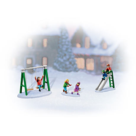 """Frosty Fun"" Village Figurine Accessory Set"