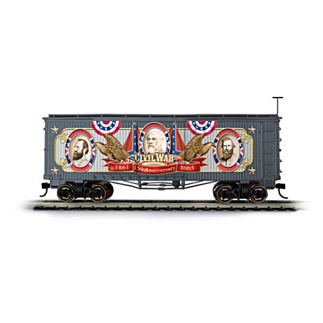150th Anniversary Civil War Boxcar With Confederate Leaders