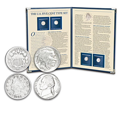 The U.S. Five Cent Type Set With Deluxe Folio