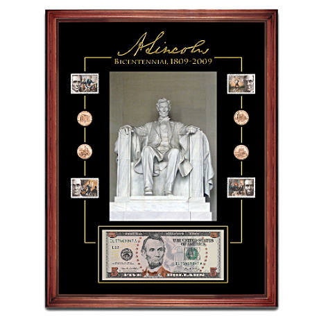 Lincoln Bicentennial Framed Tribute Coins