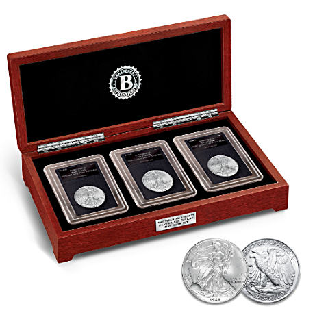 Walking Liberty U.S. Silver Half Dollar Mint Mark Coin Set