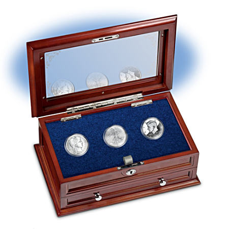 1800s, 1900s And 2000s Silver Half Dollars With Display Case