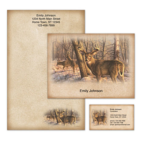 Personalized Stationery Showcasing Greg Alexander Deer Art