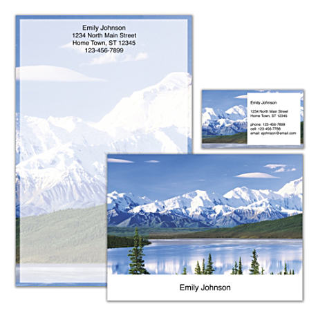 Personalized Stationery With Vivid Scenes Of National Parks