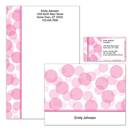 Personalized Stationery With Cheery, Colorful Polka-Dot Art