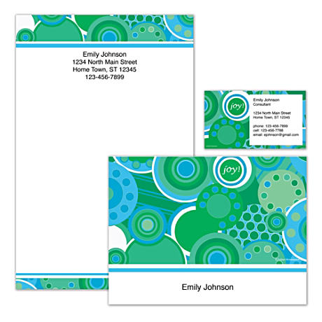 Personalized Stationery With Colorful Kaleidoscope Artwork