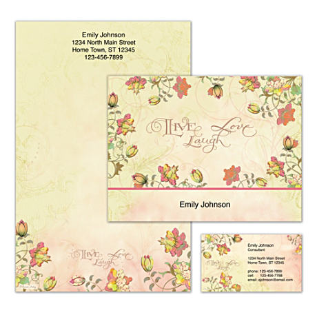 Personalized Stationery With Whimsical Art, Inspiring Words