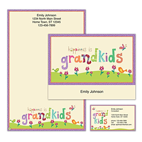 Personalized Stationery With Colorful Grandkids Message