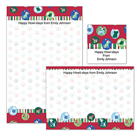 Personalized Holiday Stationery With Challis & Roos Dogs