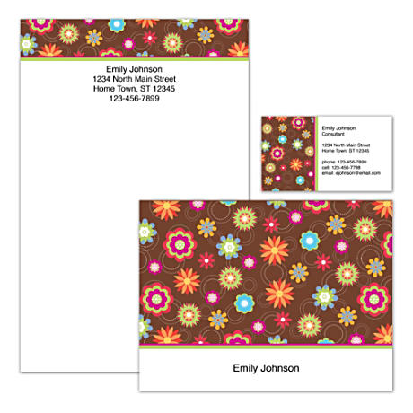 Personalized Stationery With Fanciful Floral Artwork