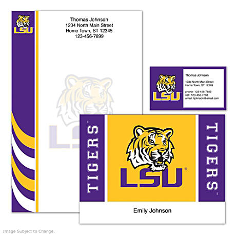 Personalized Stationery Honoring The LSU Tigers