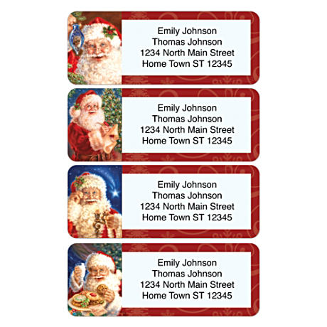 Personalized Address Labels Share Santa's Cheer