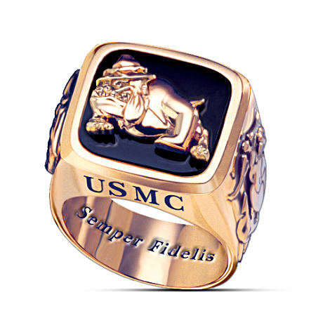 "USMC ""Semper Fi"" Engraved Men's Ring"