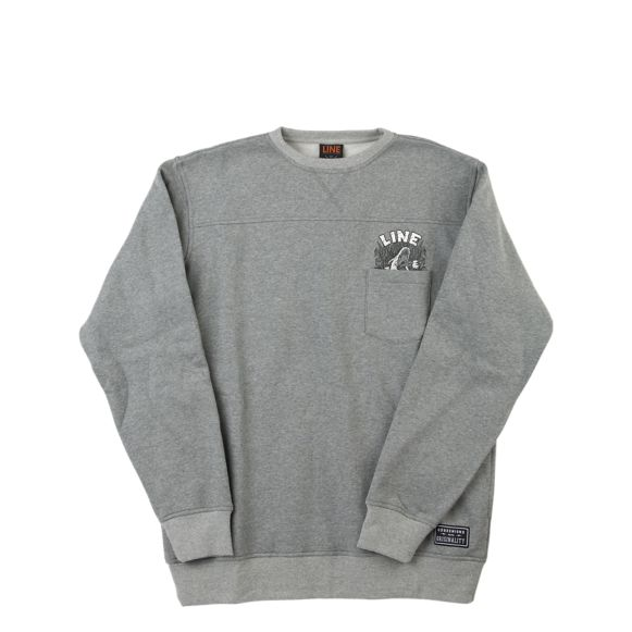 Line Drop Out Crew Clothing Accessories Heather Grey