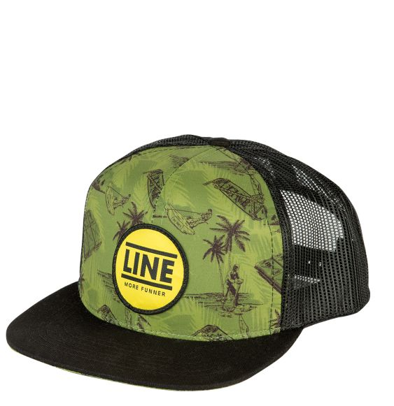 Line Drop Out Cap Clothing Accessories Tropical Black