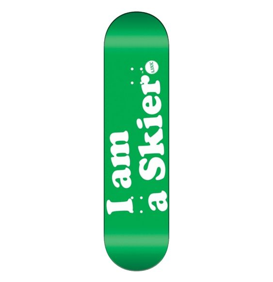 Line I Am A Skier Skateboard Clothing Accessories Kelly Green