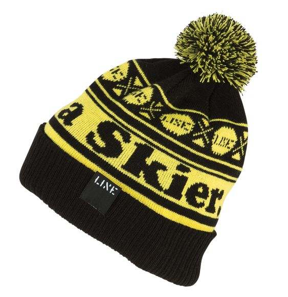 Line Skier Beanie Clothing Accessories Black