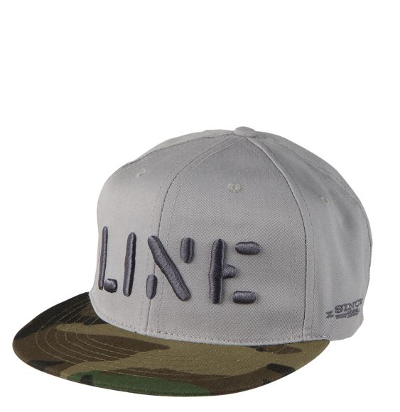 Line Stencil Cap Clothing Accessories Grey
