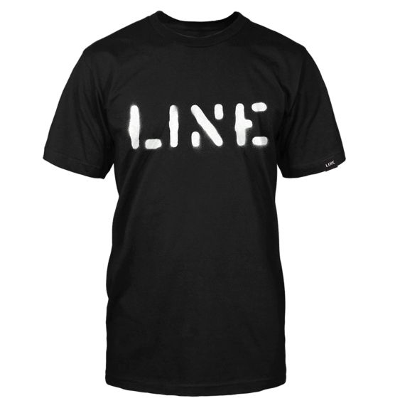Line Stencil Tee Clothing Accessories Black