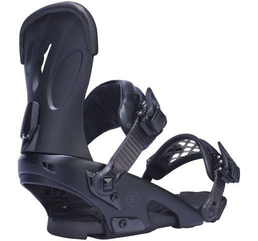 RIDE Snowboard's Women's All Mountain Freestyle Fame Snowboard Bindings Fame All Mountain Freestyle Snowboard Bindings BLACK