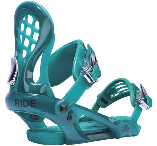 RIDE Snowboard Women's All Mountain Freestyle Park KS Snowboard Bindings KS All Mountain Freestyle Park Snowboard Bindings EMERALD