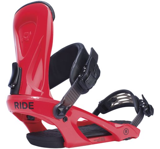 RIDE Snowboard Men's Park KX Snowboard Bindings KX Park Snowboard Bindings RED