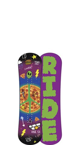 Ride Snowboard's Kids All Mountain Freestyle Lowride Snowboard Lowride All Mountain Freestyle Snowboard 90