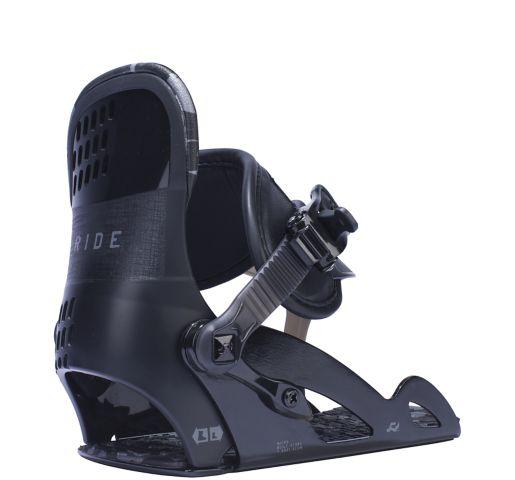 Ride Snowboard Kids All Mountain Micro Snowboard Bindings Micro All Mountain Snowboard Bindings BLACK