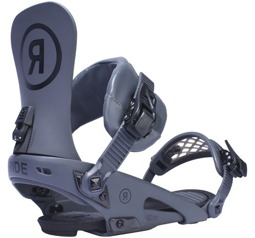 RIDE Snowboard's Men's Park Rodeo Snowboard Bindings  Rodeo Park Snowboard Bindings GREY