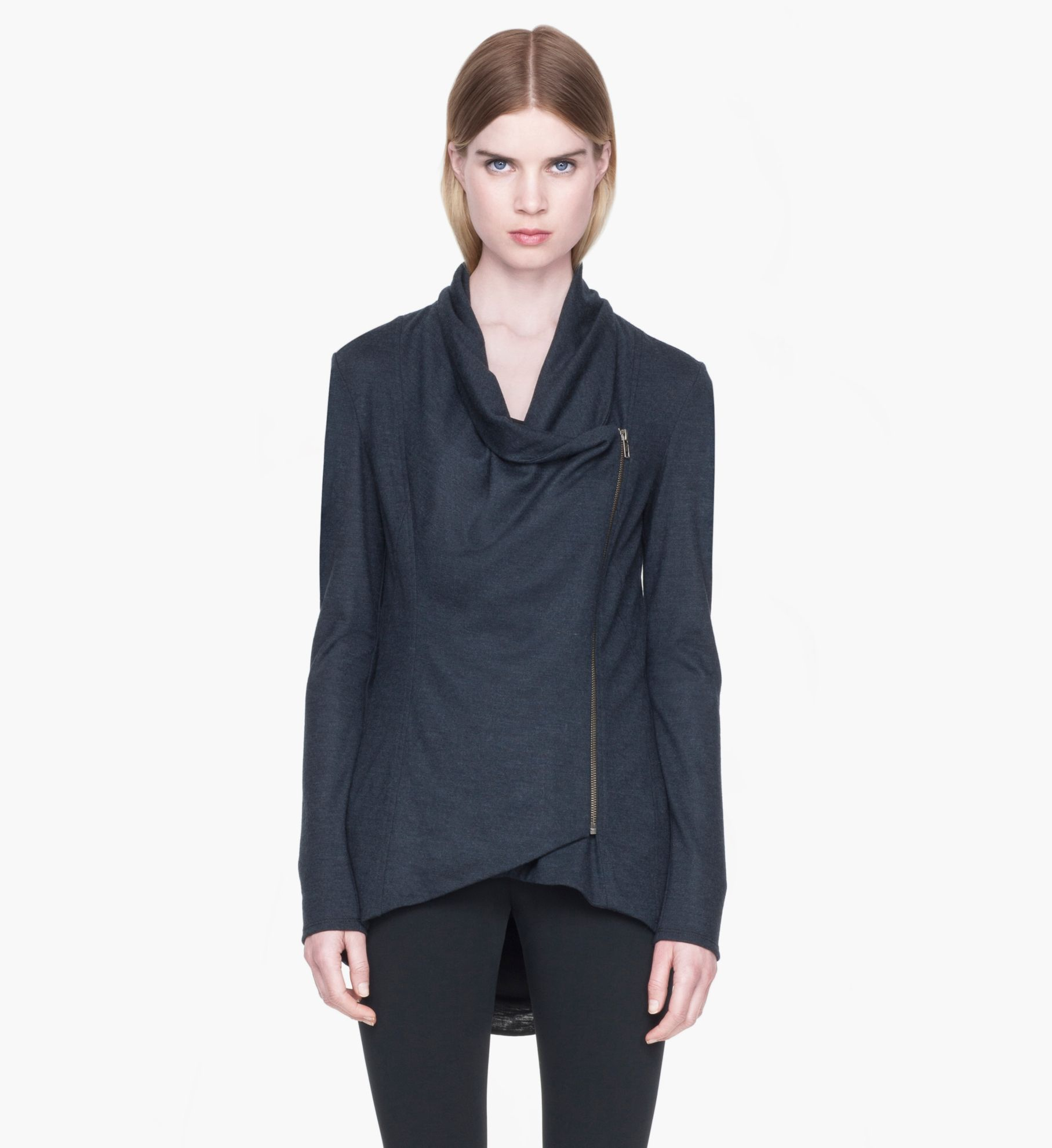 SONAR WOOL COLLARED CARDIGAN