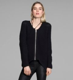 LOOPED COTTON CARDIGAN