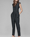 Provence Jumpsuit in Rift Silk