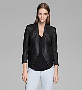 COATED STRETCH COTTON TUXEDO BLAZER