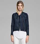 DARK SANDED INDIGO JACKET
