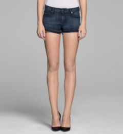 DARK SANDED INDIGO SHORT