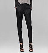 LACQUERED COTTON TROUSER