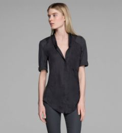 GLASSY SHIRTING TOP