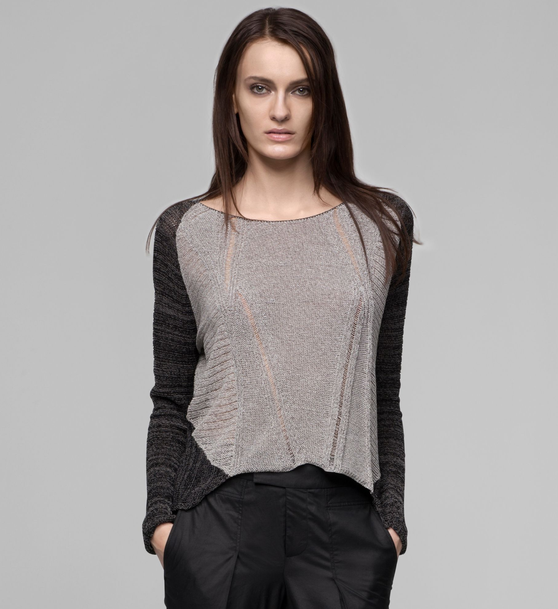 TRANSPARENT MELANGE SWEATER