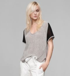TRANSPARENT MELANGE SWEATER TOP
