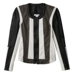 PAX LEATHER COLOR BLOCKED JACKET