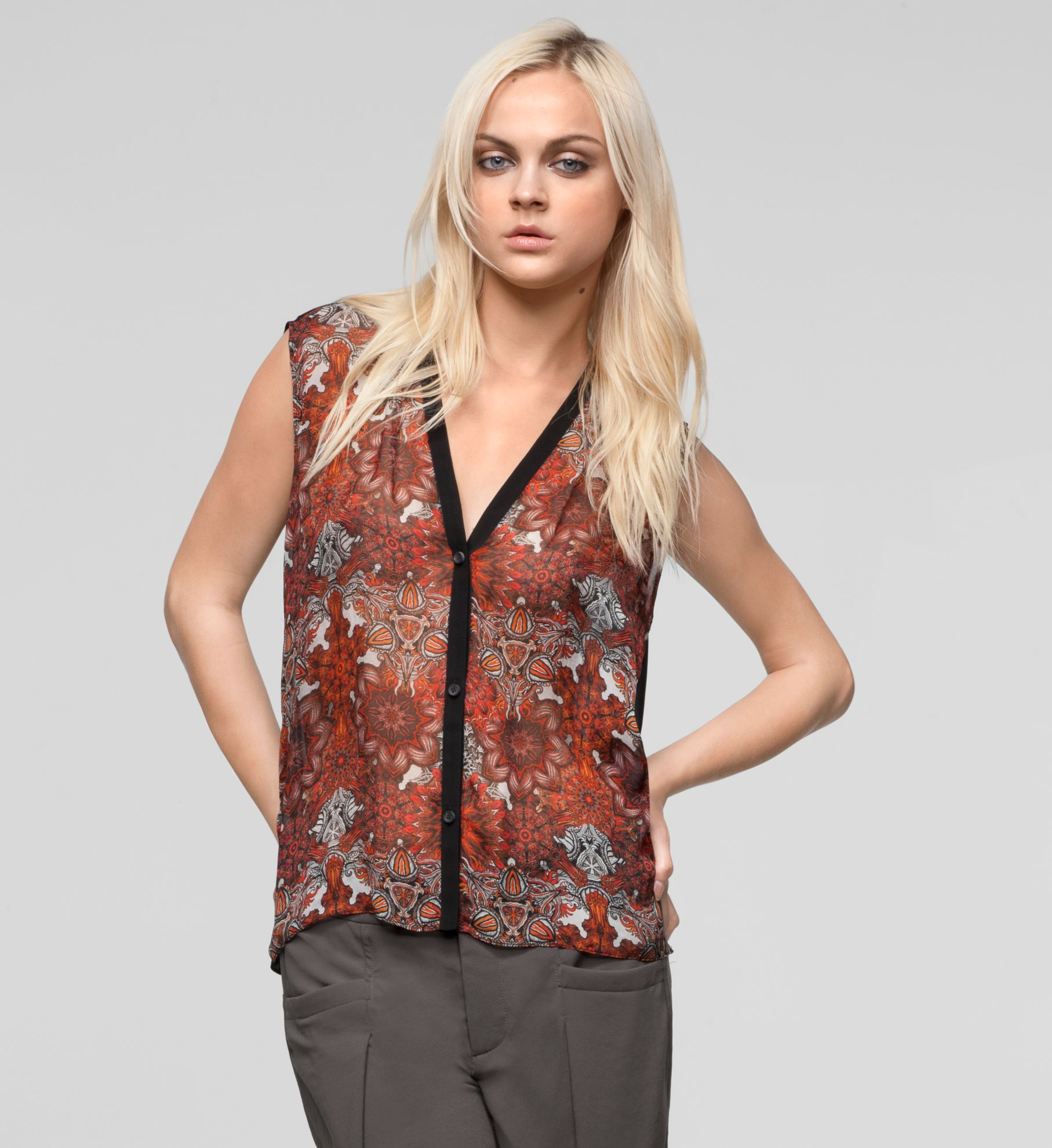 MANDALA VISCOSE PRINT TOP