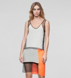 CHROMA DRAPE DRESS