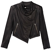 WASHED LEATHER CROPPED JACKET